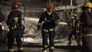 The fire broke out in a home under renovations on Euclid Avenue near Melbourne Street around 2:30 a.m. (CTV News). Jan.22, 2017.