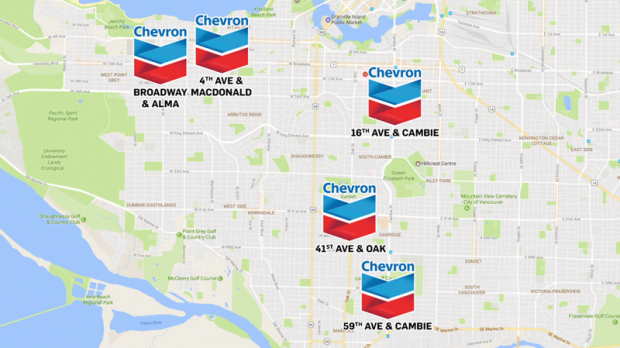Chevron puts 5 more Vancouver gas stations up for sale | CTV News on