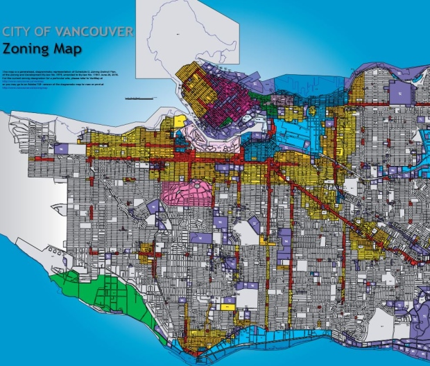 Vancouver zoning map