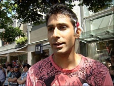 Ontario born gay rights activist Jeremy Dias is one of the 2009 Gay Pride Parade grand marshals. August 2, 2009. (CTV)