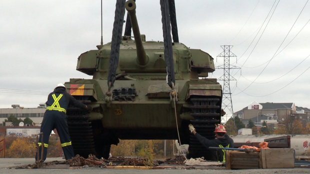 Tank arrives in Surrey
