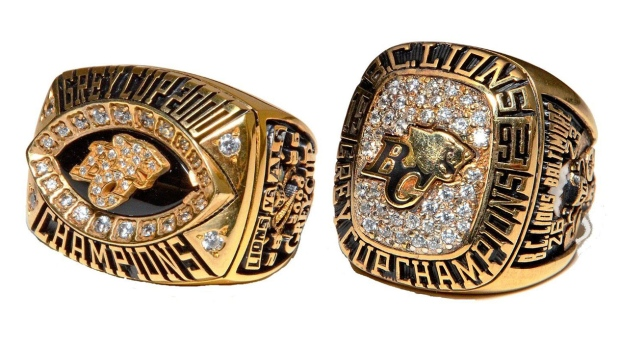 Cordell Mantyka's Grey Cup rings