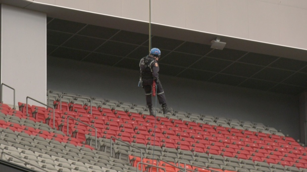 BC Place Training exercise