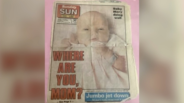 Baby Mary newspaper headline