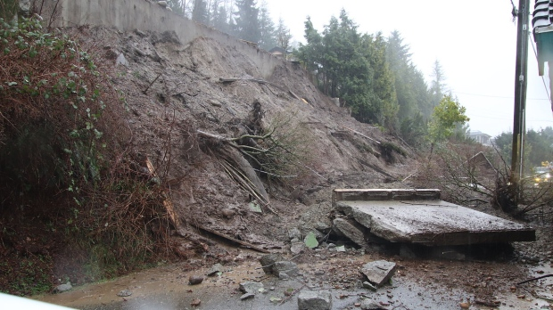 Mudslide in Burnaby
