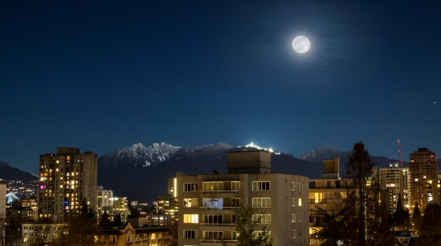 Vancouver supermoon