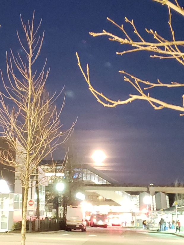 Moon over Surrey Central