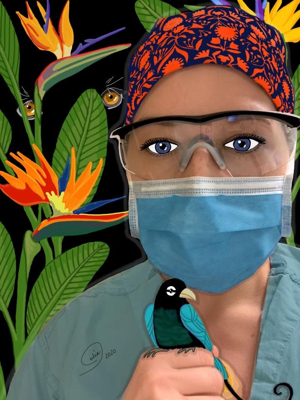 Health-care worker portrait by Julia Henderson