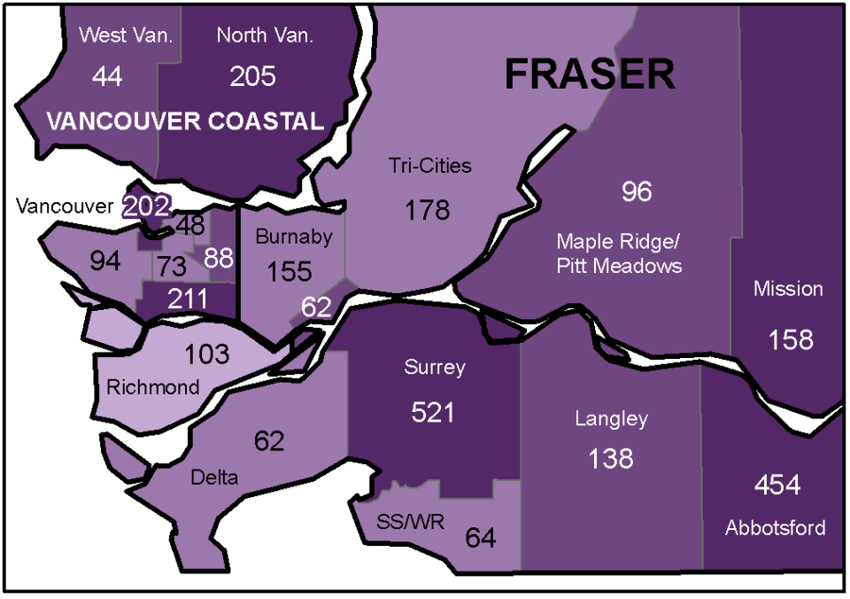 Greater Vancouver COVID cases