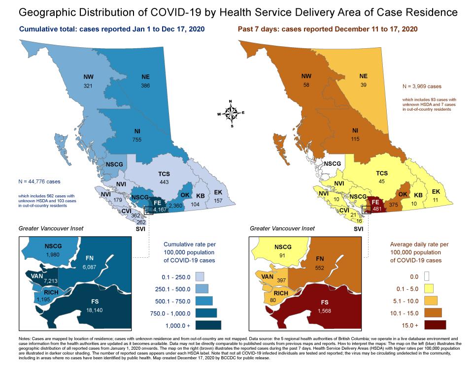 Data COVID: Peta