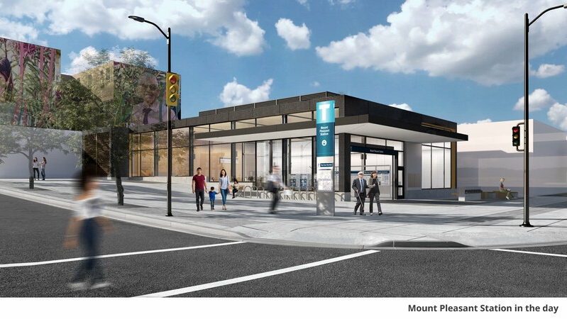 Broadway subway project rendering
