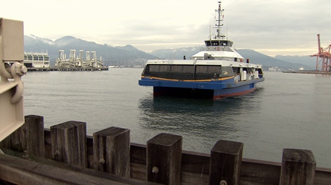 The MV Burrard Pacific Breeze went on its maiden voyage Wednesday across the Burrard Inlet. Dec. 23, 2009.