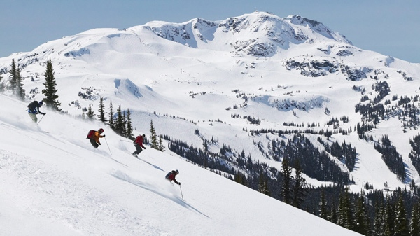 This photo released by Tourism British Columbia shows the back country skiing on Blackcomb Mountain, Whistler Blackcomb. (AP Photo / Tourism British Columbia, Randy Lincks)