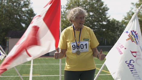 Since taking up track and field at age 77, Olga Kotelko, now 90, has acquired 623 medals in running and throwing events.  February 10, 2010.