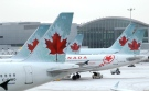 Air Canada planes are seen in this undated file image.