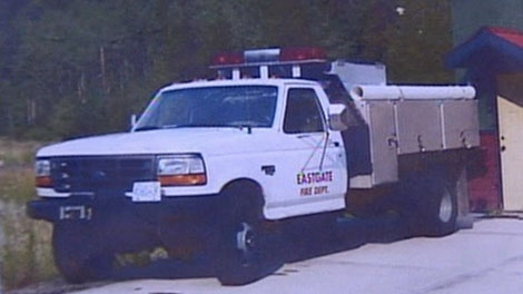 The East Gate Fire Protection Society's customized truck was stolen over the weekend. May 11, 2010.