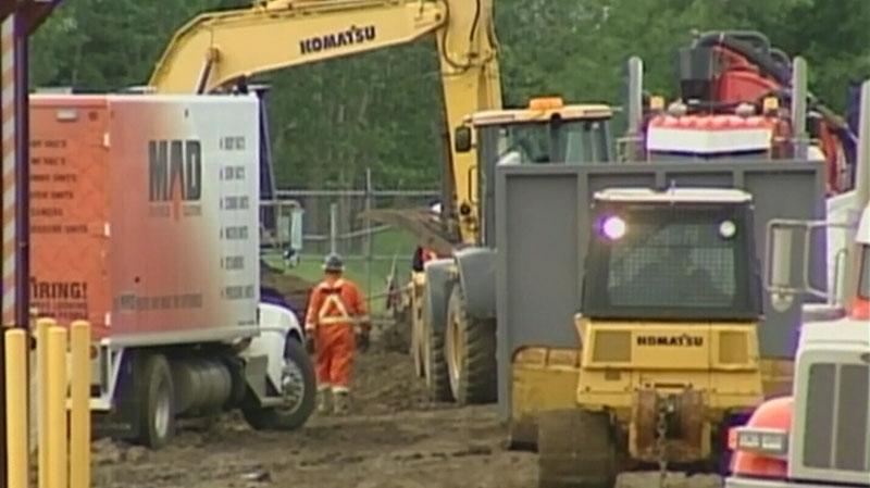 Enbridge's Athabasca pipeline leaked an estimated 230,000 litres of heavy crude oil on June 18, 2012. (CTV)