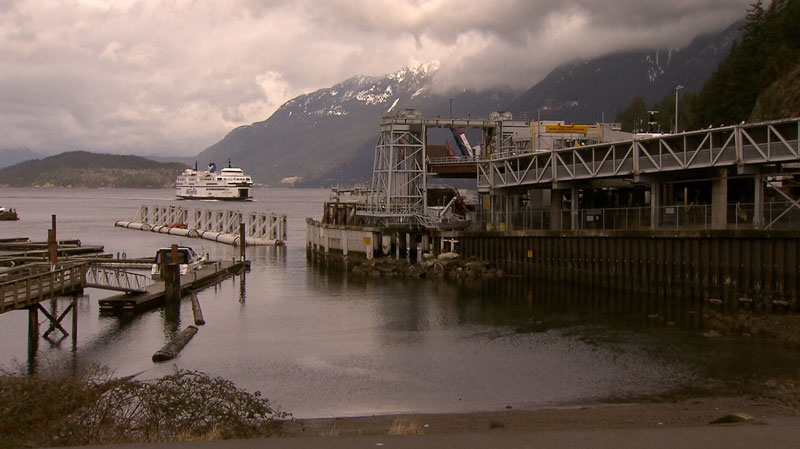 A BC Ferries vessel arrives in Horseshoe Bay on June 28, 2012. (CTV)