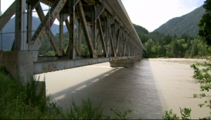 A bridge over the Fraser River in British Columbia is seen in this undated file photo.