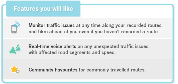 Traffic App Features