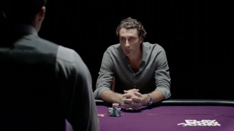 Roberto Luongo appears in an ad for the BC Lottery Corporation's PlayNow.com website.