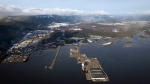 Douglas Channel, the proposed termination point for an oil pipeline in the Enbridge Northern Gateway Project, is pictured in an aerial view in Kitimat, B.C. (Darryl Dyck/THE CANADIAN PRESS)