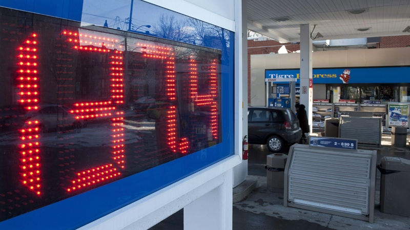The price of gas is seen at a gas station Thursday, January 5, 2012 in Montreal. THE CANADIAN PRESS/Paul Chiasson