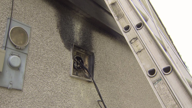 Investigators are trying to determine what started a blaze at a Coquitlam home Sunday morning. Aug. 6. 2012. (CTV)