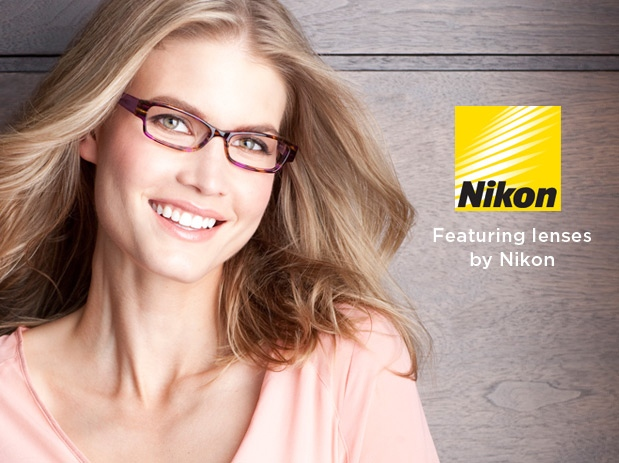 IRIS eyewear image and Nikon logo