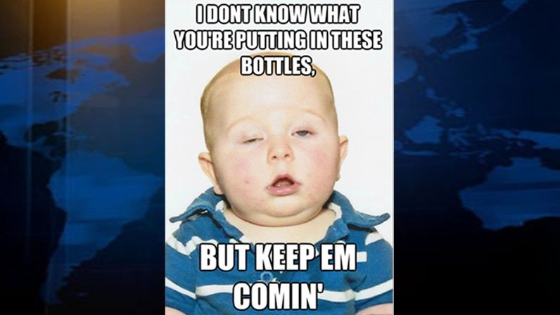 A Vancouver baby is becoming an internet meme after his dad posted his botched passport photo online. Sept. 14, 2012. (www.quickmeme.com)