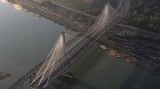 Three lanes on the new Port Mann Bridge opened on Tuesday, September 18, 2012. (CTV)
