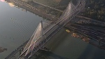 Three lanes on the new Port Mann Bridge opened on Tuesday, September 18, 2012. (CTV)