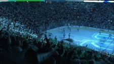Vancouver Canucks fans cheer on the home team in this file image. (CTV)