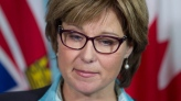 British Columbia Premier Christy Clark pauses for a moment during a news conference in Vancouver, Monday, September 24, 2012. Clark spoke to the media following the resignation of her chief of staff. THE CANADIAN PRESS/Jonathan Hayward