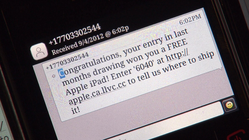 If you've ever received a text message saying you've won a special prize you were likely the victim of the latest threat to smartphones: a 'Smishing' scam.