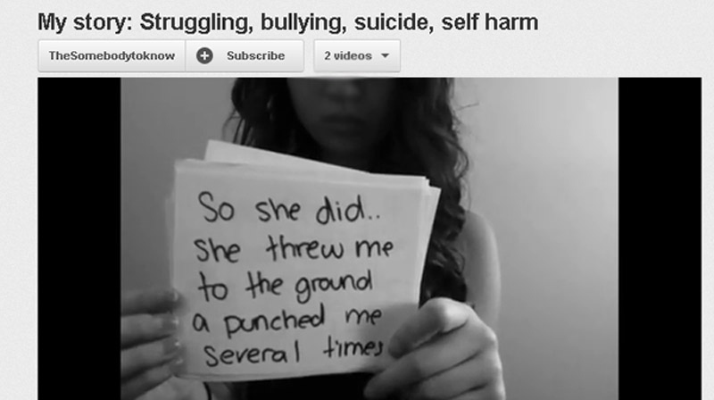 A teenage girl who posted a YouTube video about being bullied is being mourned online after allegedly committing suicide. (YouTube)